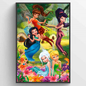 Disney Fairies Flowers Poster wallsticker