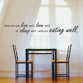 Eat well wallsticker