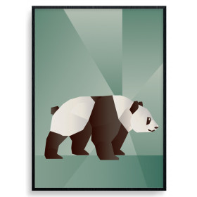 Polygon Panda Poster wallsticker