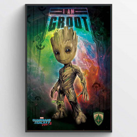 Guardians of the Galaxy Vol. 2 (I Am Groot - Space) Poster wallsticker
