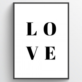 Love - poster wallsticker