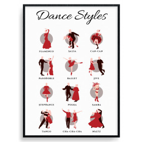 Dance styles Poster wallsticker