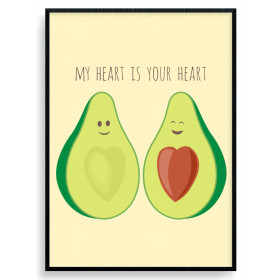 Avocado Love Poster wallsticker