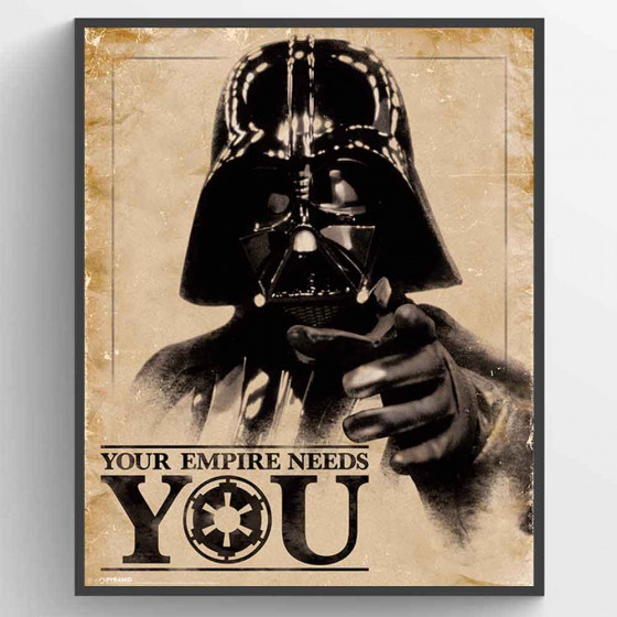 Star Wars Classic - Your Empire Needs You Poster wallsticker