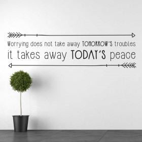 Worrying wallsticker