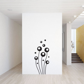 Abstracte bloemen wallsticker