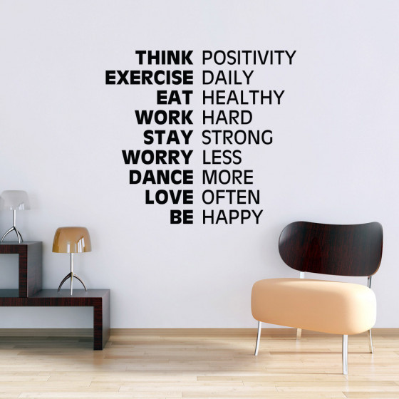 Think positive wallsticker
