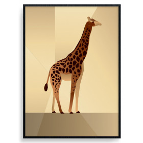 Polygon Giraffe Poster wallsticker