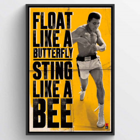 Muhammad Ali Float Like A Butterfly Poster wallsticker