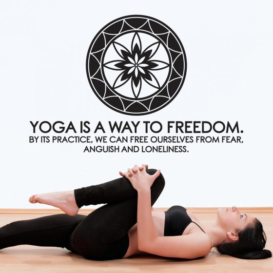 Yoga is a way to freedom wallsticker