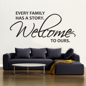 Welcome to our story wallsticker