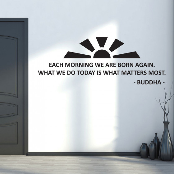 Each morning - Buddha wallsticker