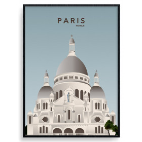 Paris Sacré Cour Poster wallsticker