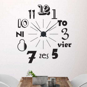 Klok 2 wallsticker