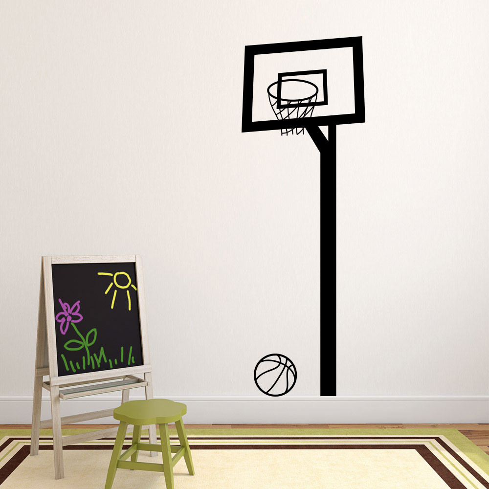 Basketbalnet wallsticker