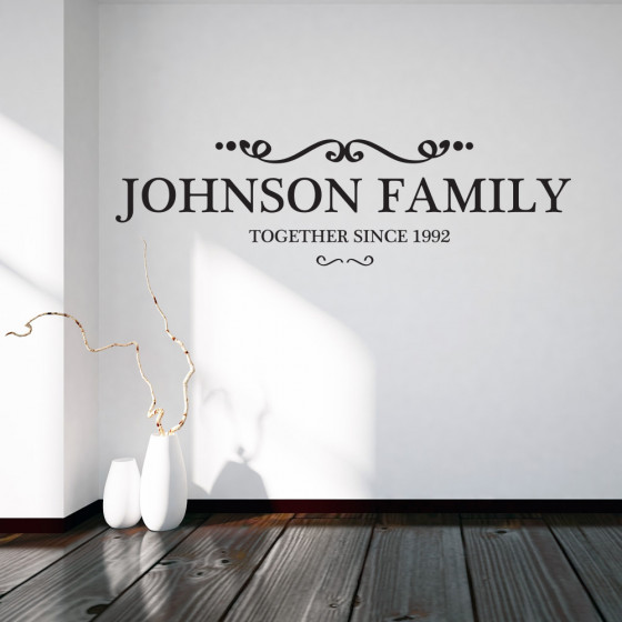 Familiebatch wallsticker