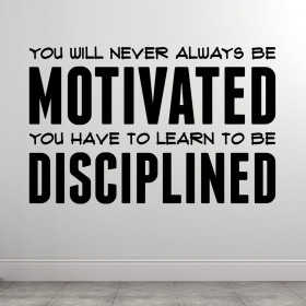 Learn to be disciplined wallsticker