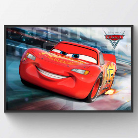 Cars 3 McQueen Race Poster wallsticker