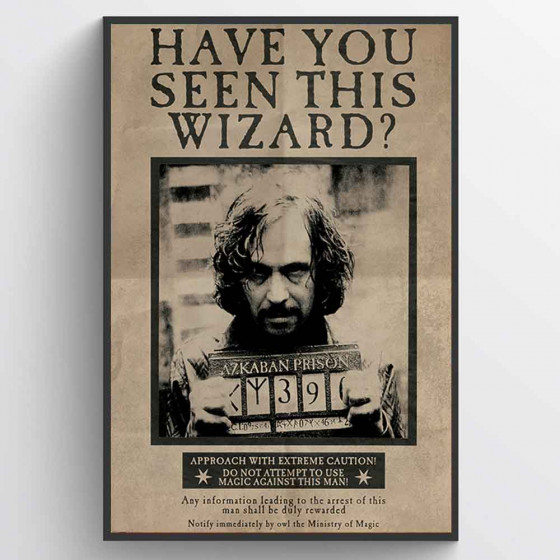 Harry Potter - Wanted Sirius Black Poster wallsticker