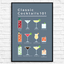 Classic cocktails - poster