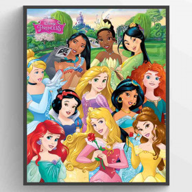 Disney Princess I am The Princess Poster wallsticker