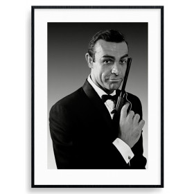 James Bond (Connery Tuxedo) Poster wallsticker