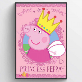 Peppa Pig (Princess Peppa) Poster wallsticker