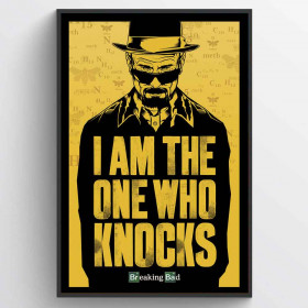 Breaking Bad (I Am the One Who Knocks) Poster wallsticker