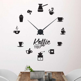 Koffieklok wallsticker