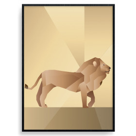 Polygon Lion Poster wallsticker