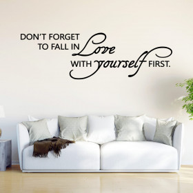 Fall in love with yourself wallsticker
