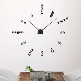 Klok 1 wallsticker