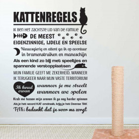 Kattenregels wallsticker