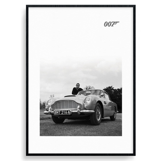 #2 James Bond - Aston Martin Poster wallsticker