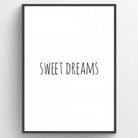 Sweet dreams - poster wallsticker