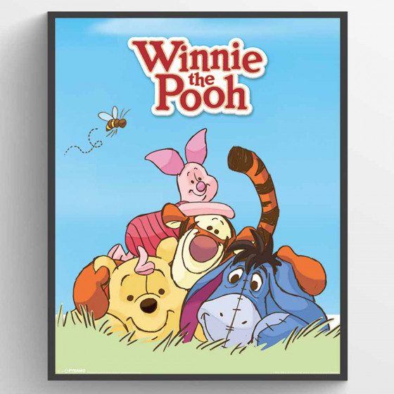 Winnie the Pooh Characters Poster wallsticker