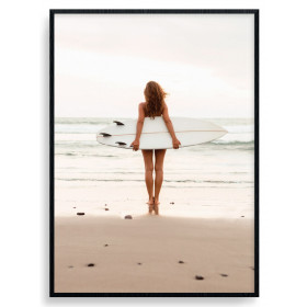 Waiting For The Waves Poster wallsticker