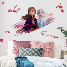 Frozen - Anna & Elsa - Groot wallsticker