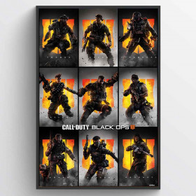 Call of Duty: Black Ops 4 (Characters) Poster wallsticker