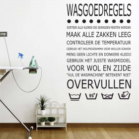 Wasregels wallsticker