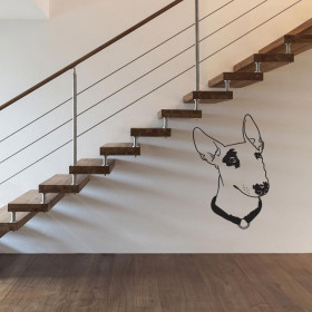 Bull terrier wallsticker
