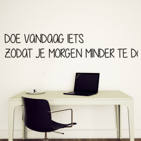 Doe nu iets wallsticker