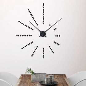 Dots klok wallsticker