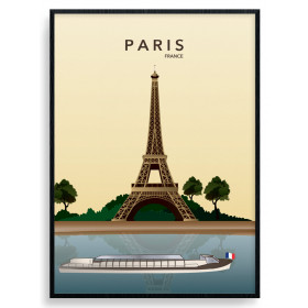 Paris Eiffel Tower Poster wallsticker