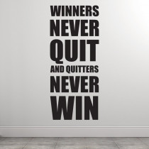 Winners never quit