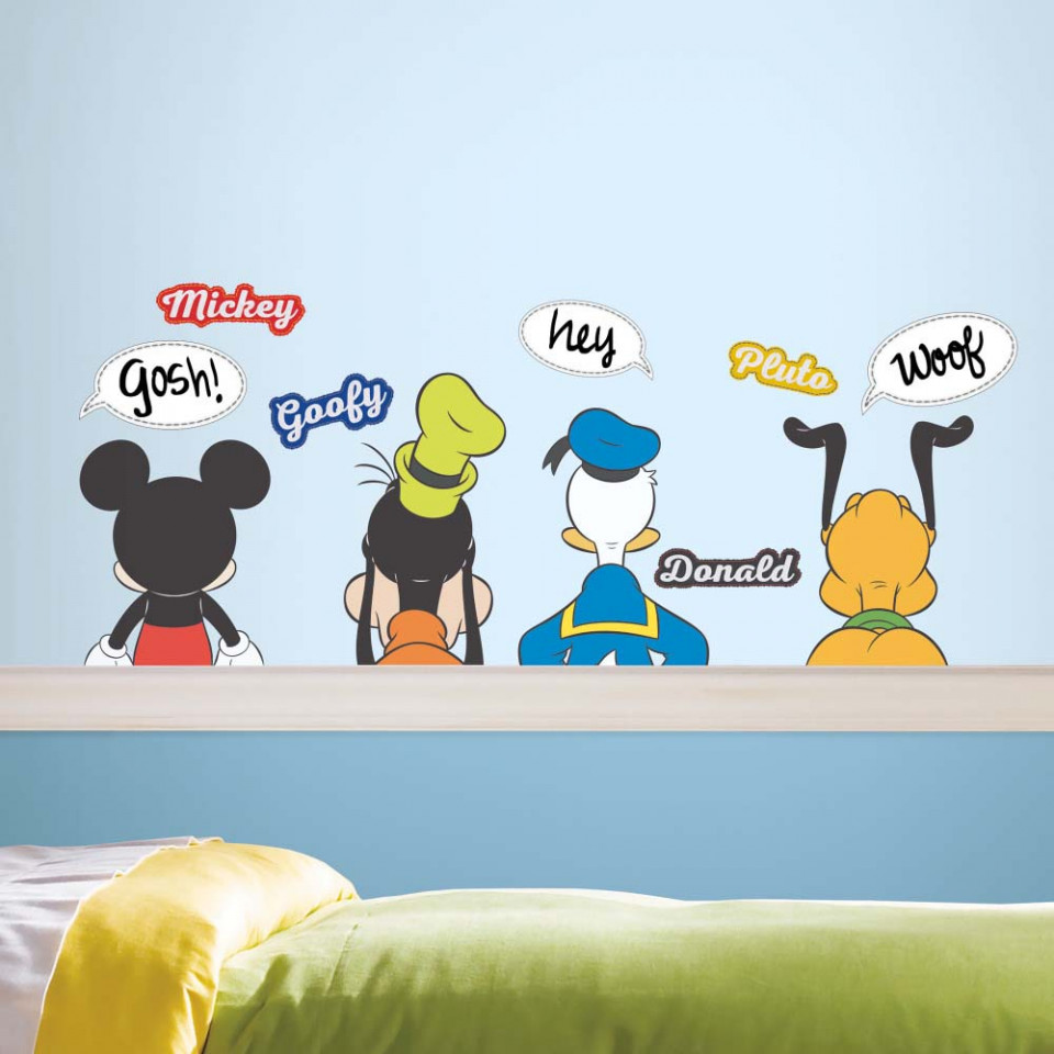 Mickey Mouse Muursticker.Mickey Mouse Vrienden Set 3 Muursticker Alleen Van