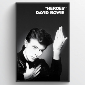 David Bowie Heroes Poster wallsticker