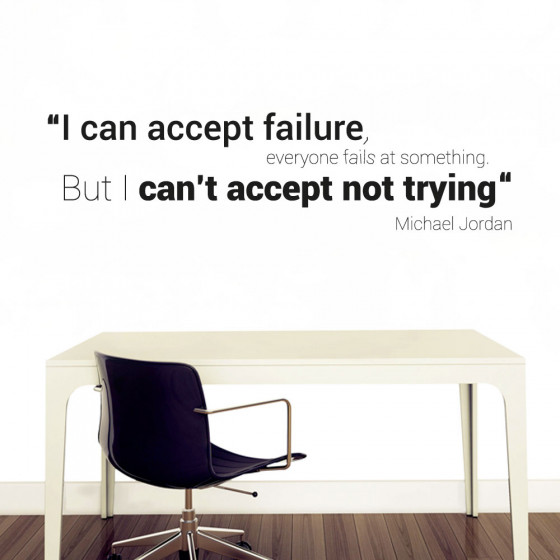 I can accept failure wallsticker