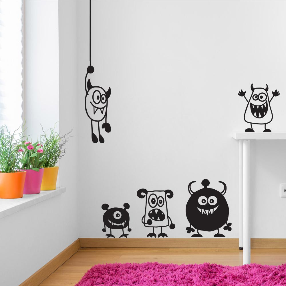 Lieve monsters wallsticker