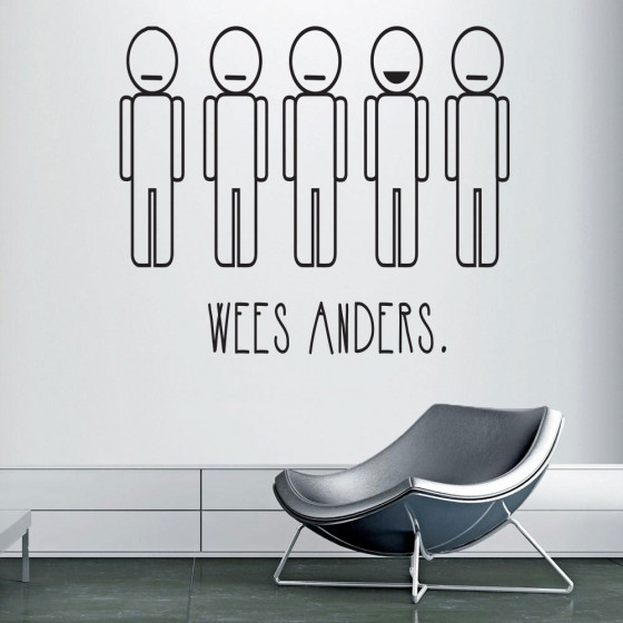 Wees anders wallsticker